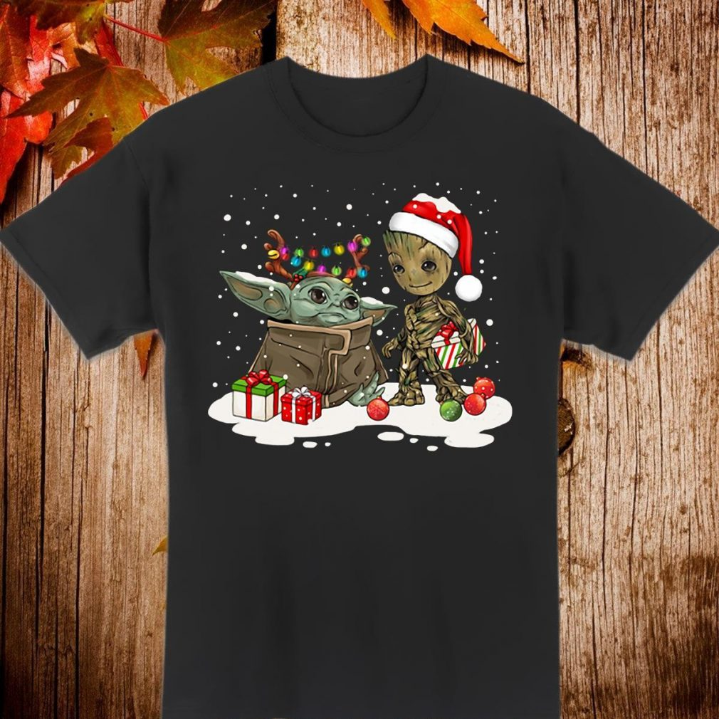 Baby Yoda And Baby Groot Santa Christmas Shirt
