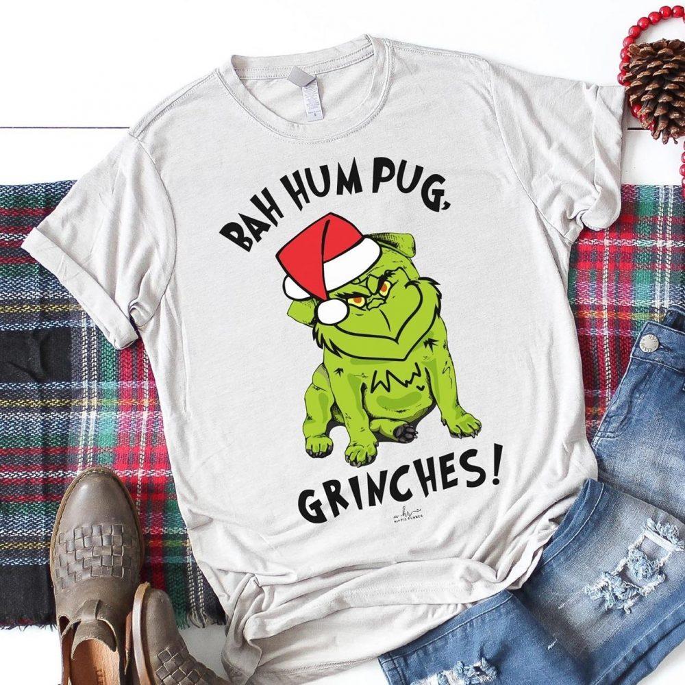 Bah hum pug grinches santa Shirt