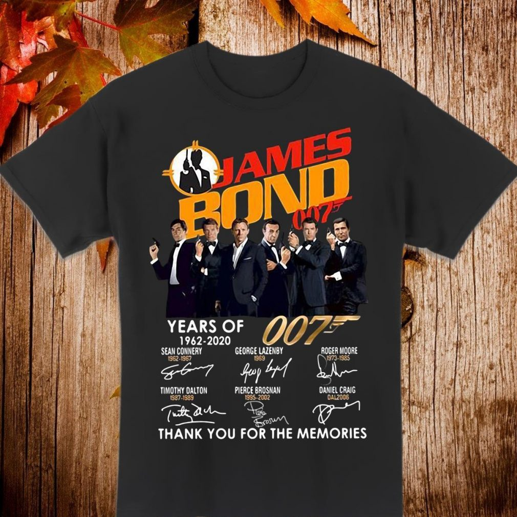 James Bond years 1962-2020 Thank You For The Memories Shirt