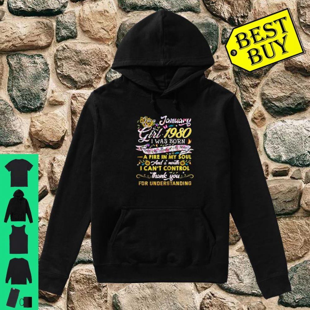 January girl 1980 Shirt 40 Years Old 40th Birthday Shirt hoodie