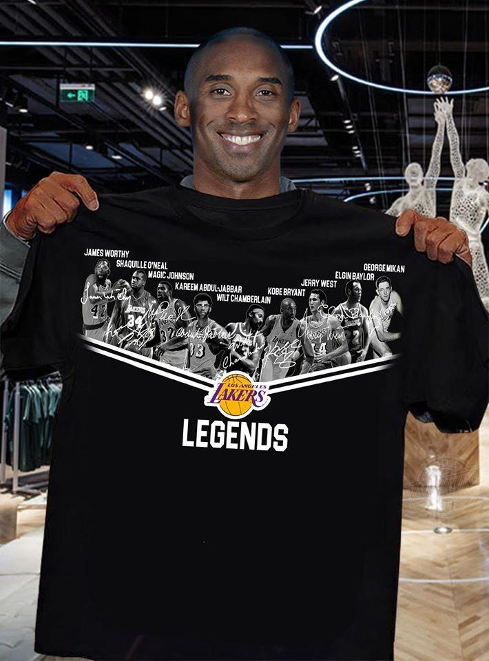 Los Angeles Lakers Legends players signature Shirt