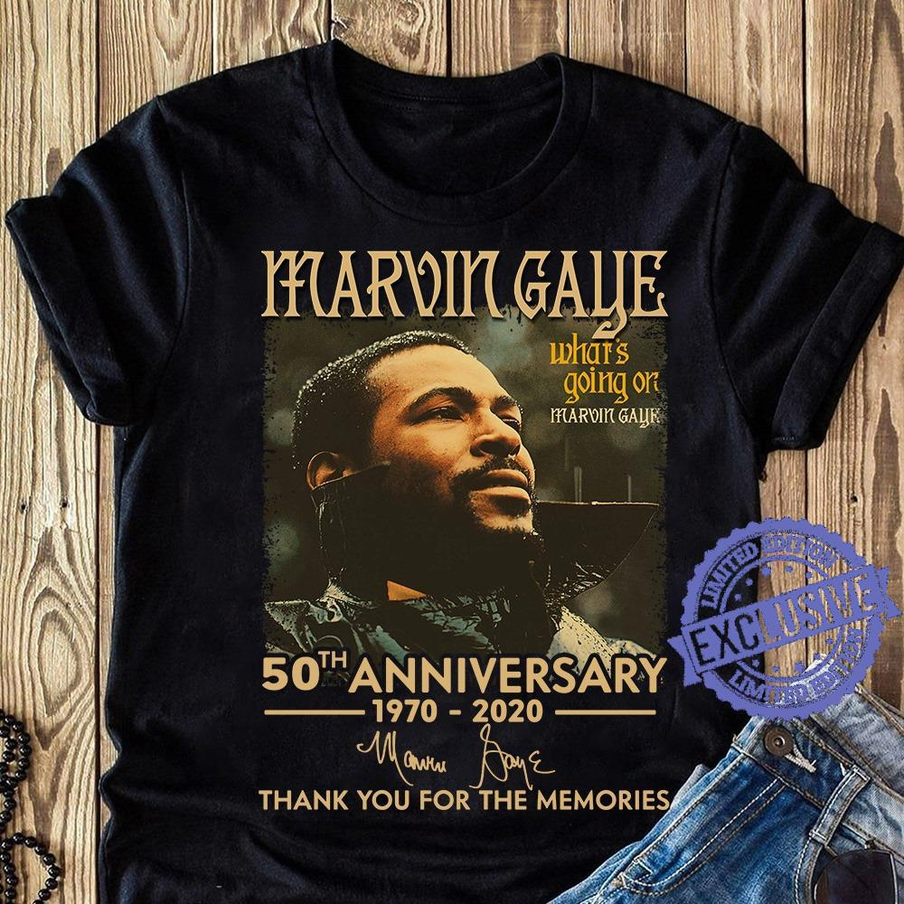 Marvin gaye what's going on marvin gaye 50th anniversary 1970 2020 thank you for the memories shirt
