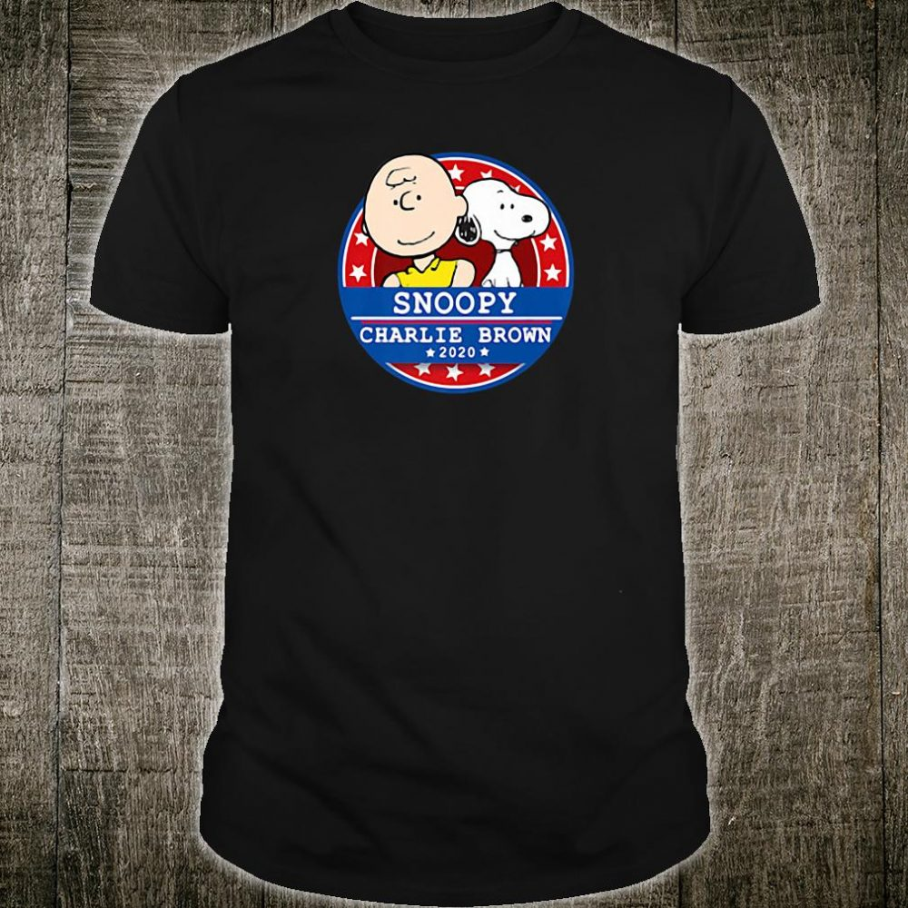 Peanuts Snoopy Charlie Brown for President 2020 shirt